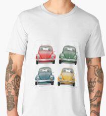 Volkswagen Type 1 - Variety of Volkswagen Beetle on Vintage Background  Men's Premium T-Shirt