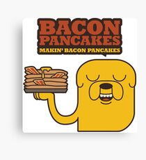 Jake The Dog - Adventure Time - Making Bacon Pancakes Canvas Print