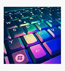 Rainbow Keyboard Photographic Print