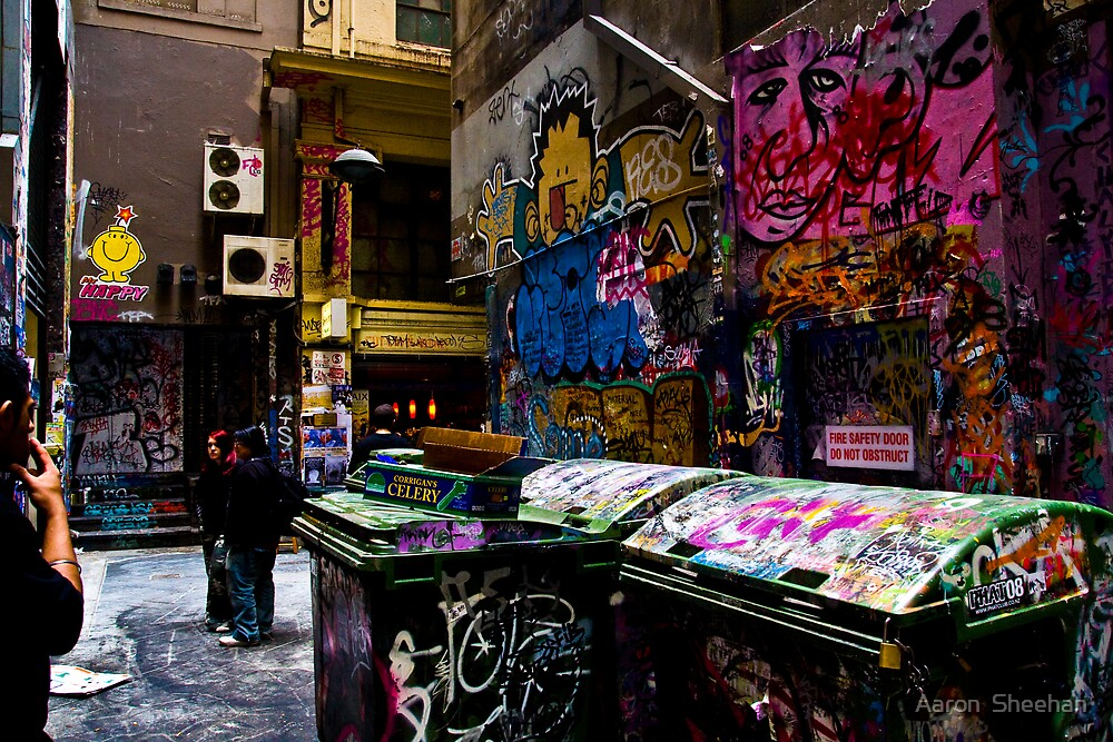 Degraves St Graffiti by Aaron  Sheehan