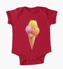 Ice cream. Waffle cone One Piece - Short Sleeve