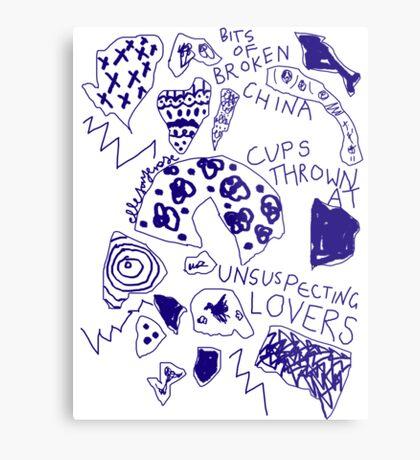'Broken Love China' Metal Print
