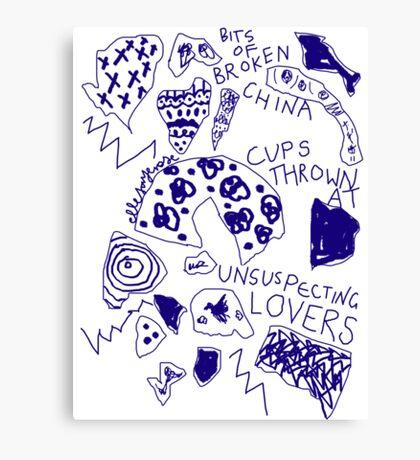 'Broken Love China' Canvas Print