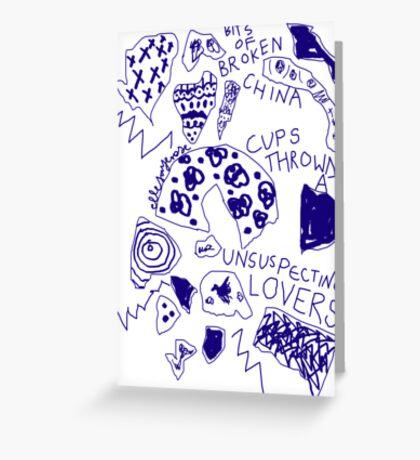 'Broken Love China' Greeting Card