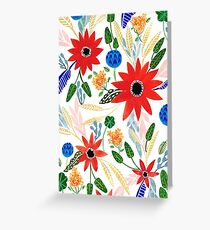 Weekend Flowers Greeting Card
