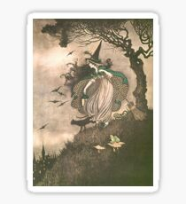 An illustration from Elves and Fairies by Ida Rentoul Outhwaite Sticker