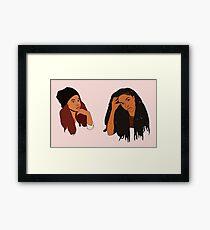 2 Dope Queens Framed Print