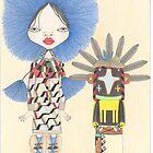 BARBALA AND CROW KACHINA by CharlesHBenton