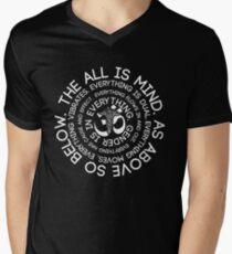Hermetic Law - As Above So Below - Esoteric and Spiritual Principles Men's V-Neck T-Shirt