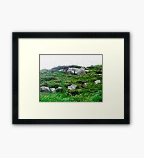 Irish boulders, Donegal, Ireland Framed Print