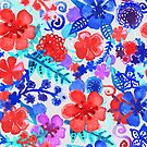Fresh Watercolor Floral Pattern II by Tangerine-Tane