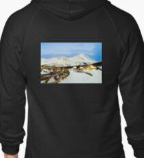 Mountain top cabin Zipped Hoodie