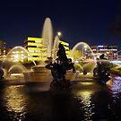 Fountain Reflections by Jelderkc