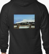 Snowy mountain top Zipped Hoodie