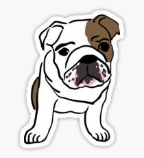 English Bulldog Vector Illustration Sticker