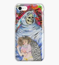 Fallen angel// death surrounded by flowers iPhone Case/Skin