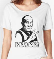 Dalai Lama Friedenszeichen T-Shirt Baggyfit T-Shirt