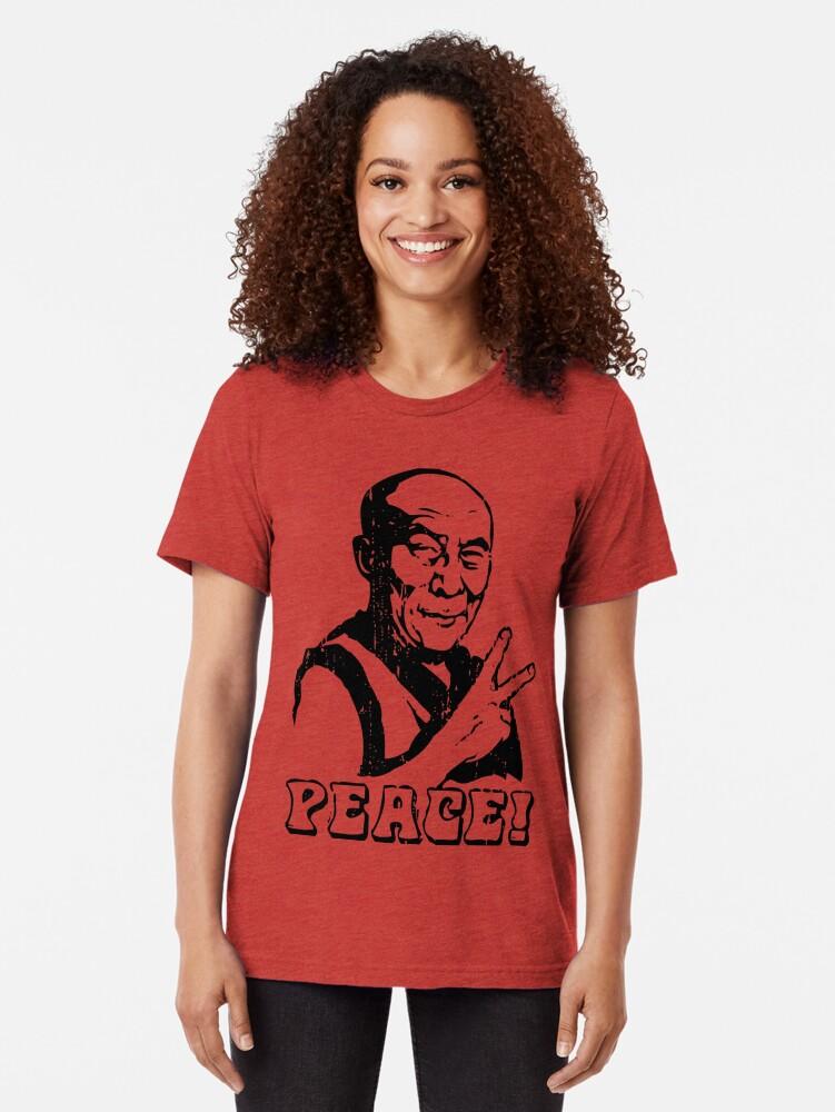 Alternative Ansicht von Dalai Lama Friedenszeichen T-Shirt Vintage T-Shirt