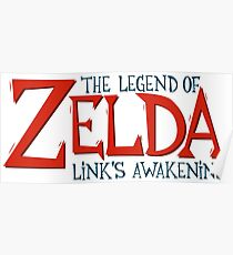 Zelda: Link's Awakening Logo Poster