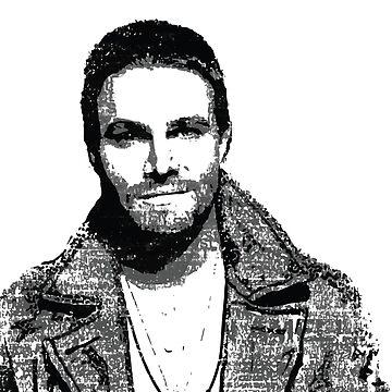 Stephen Amell (vector illustration) by rainingonsunday
