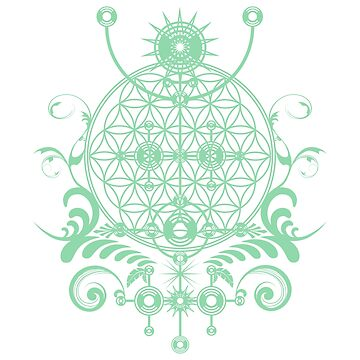 Channeling the Sacred  - Sacred Geometry Flower of Life Symbol by LeahMcNeir