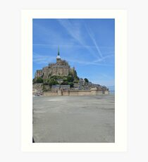 Mont Saint-Michel - the real castle inspiration for Tangled Art Print