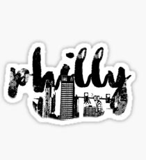 PHILLY SKYLINE | black and white Sticker
