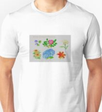 South Eastern Flower Cross Stitch T-Shirt