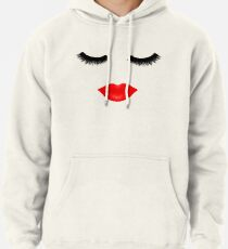 Lips and Lashes Pullover Hoodie