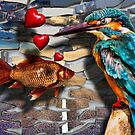 The Love Affair between the Bird and Fish by GolemAura