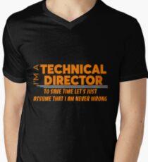 TECHNICAL DIRECTOR Men's V-Neck T-Shirt