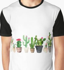 Kaktus Grafik T-Shirt