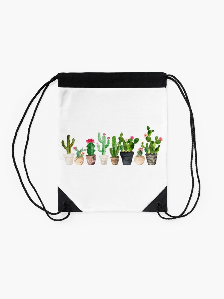 Alternate view of Cactus Drawstring Bag