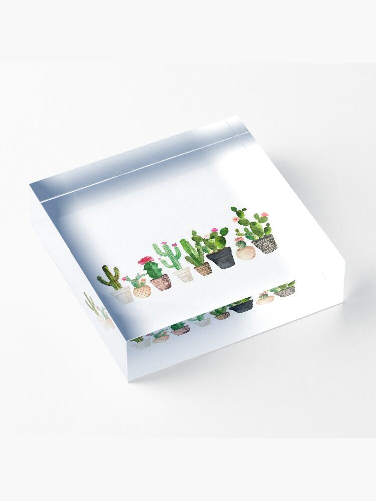 Alternate view of Cactus Acrylic Block