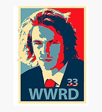What would Riggins do? Photographic Print