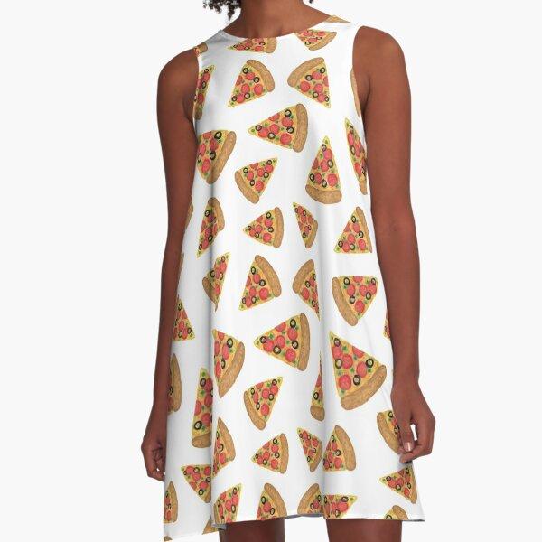 Pizza Pattern A-Line Dress