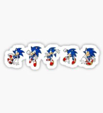 Sonic the Hedgehog Pattern (White) [Alternate Colors Available Upon Request] Sticker