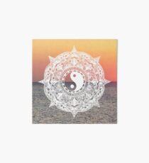 Sunset Yin Yang Mandala Art Board