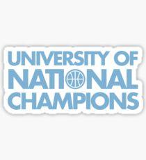 University of National Champions (UNC) Basketball Sticker