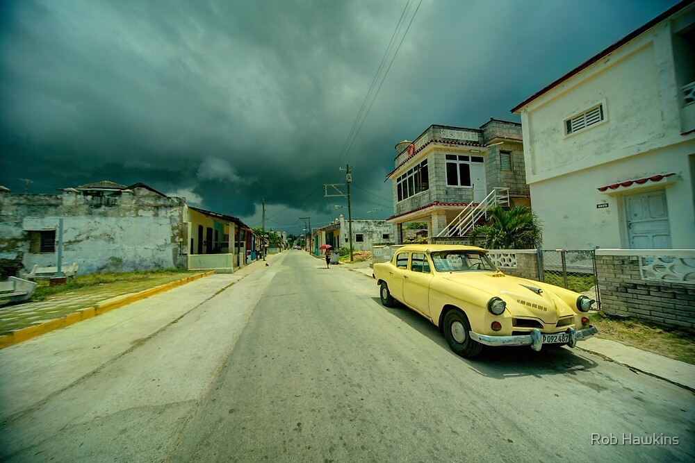 Yellow storm car  by Rob Hawkins