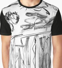 Leaping Horses - Black & White Graphic T-Shirt