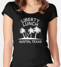 Liberty Lunch (Austin, Texas) Women's Fitted Scoop T-Shirt