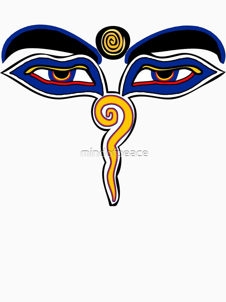 Buddha Eyes Symbol Unisex T Shirt By Mindofpeace Redbubble