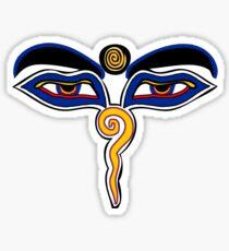 Buddha Eyes Symbol Sticker