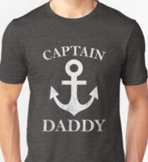 Captain Daddy Funny Anchor Sailing Father's Gift T-Shirt
