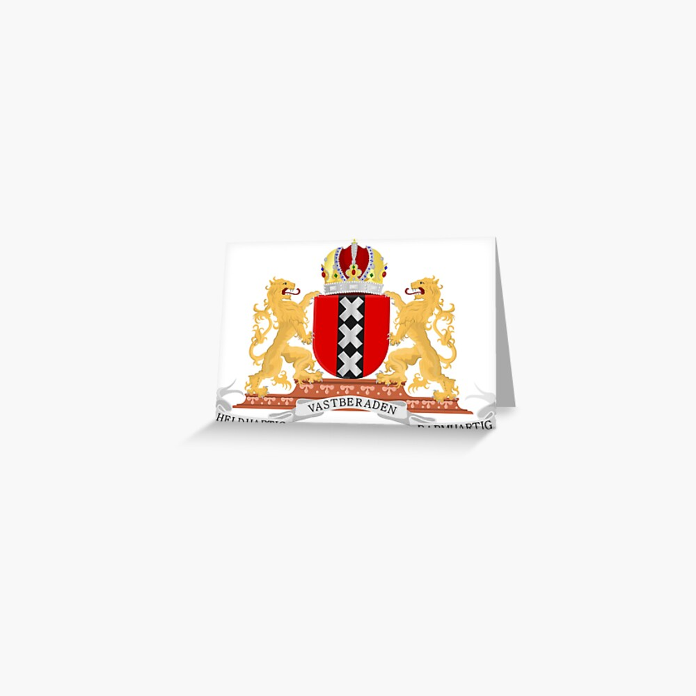 Amsterdam coat of arms Greeting Card