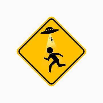 Alien Abduction Road Sign by ecaggiani
