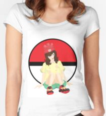 Alola Pokemon Sun And Moon Girl Women's Fitted Scoop T-Shirt