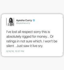 Ayesha Curry rigged tweet Sticker