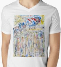 Leaping Horses Men's V-Neck T-Shirt
